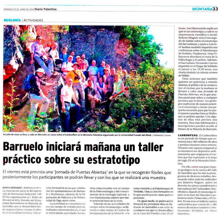 Noticia en el Diario Palentino