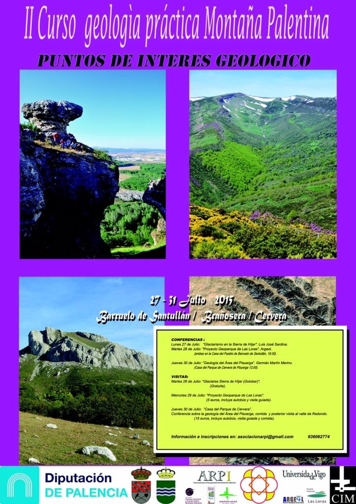 Cartel II Curso Geología 2015-2