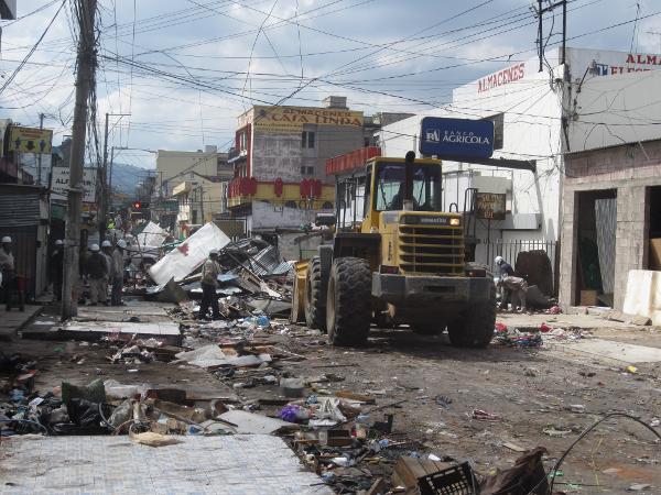 Desalojo Comercio informal Centro San Salvador